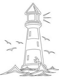 lighthouses to color worksheets lighting