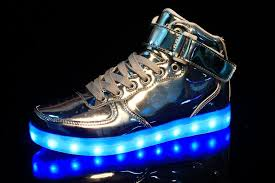 high top light up shoes golden silver big size 46 led shoes men glowing cool light flat