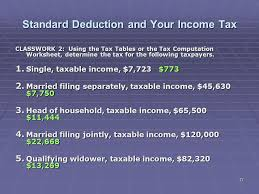 7 1 tax tables worksheets and schedules answers liberty tax service online basic income tax course lesson 6 ppt