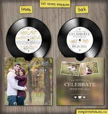 wedding invitations ottawa custom vinyl record wedding invitations from winnipeg