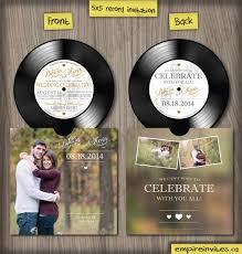 custom vinyl record music wedding invitations from winnipeg