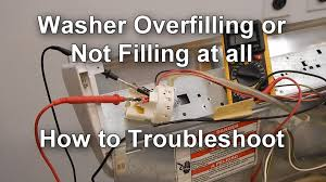 how to test the pressure switch on your washer not filling or