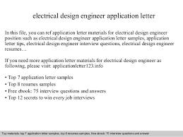 Electrical Design Engineer Resume Sample by Electrical Design Engineer Application Letter