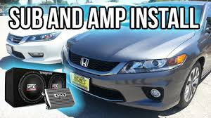 2013 honda accord subwoofer install subwoofer and amplifier honda accord