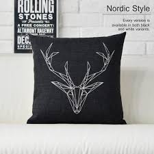 Stag Head Home Decor Decor Deer Pillow For Create A Chic Look To Your Room Decor