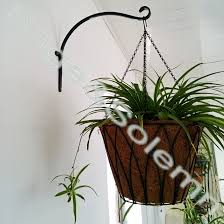 powder coated garden wall mounted wrought iron hanging flower