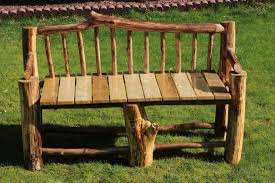 rustic wood benches outdoor bench decoration