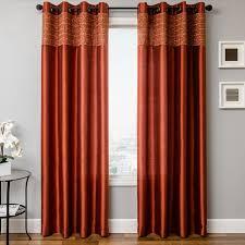 Burnt Orange Curtains Sale Appealing Orange Window Curtains Muarju Rust Fuchsia Pink Sari