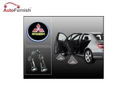 mitsubishi car logo car door welcome light led projection ghost shadow light laser