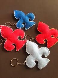 Famosos R$12,00 Chaveiro Flor de lis em feltro!   FELT   Pinterest   Crochet @RX23