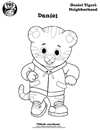 pbs coloring pages coloring daniel tigers neighborhood pbs kids