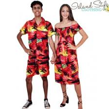 Hawaiian Halloween Costume Couples Sunset Capped Sleeve Dress Mens Hawaiian Shirt Fancy