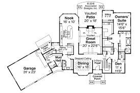 House Plans With Vaulted Great Room by Lodge Style House Plans Timberline 31 055 Associated Designs