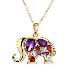natural amethyst necklace images 1 1 2 ct natural amethyst garnet topaz elephant pendant with jpg