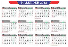 Gambar Kalender 2018 Lengkap File Coreldraw Kalender 2018 Masehi 1439 Hijriyah Lengkap