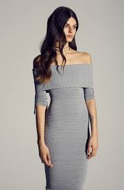 fitted dresses asilio think shoulder thick knit fitted midi dress in