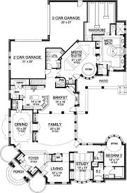 luxury style house plans 6909 square foot home 2 story 5