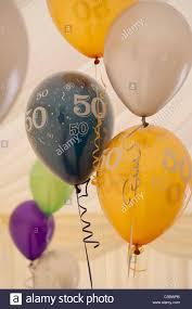 50th birthday balloons 50th birthday balloons stock photo 37755715 alamy