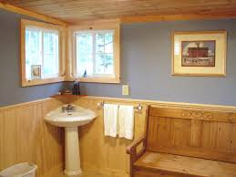 photos of bathrooms downstairs half bath with bench