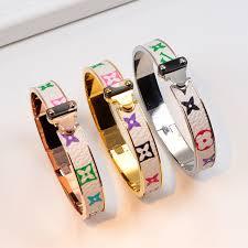 titanium steel love bracelet images 2017 new letter classic fashion titanium steel h love bracelet jpg