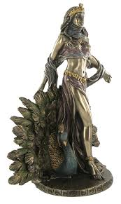 statue with hera peacock statue mythology magnificent