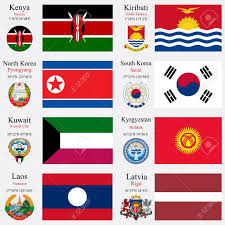Flag Of Kenya World Flags Of Kenya Kiribati North Korea South Korea Kuwait