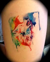 rainbow wolf temporary tattoo by lucky978 on deviantart