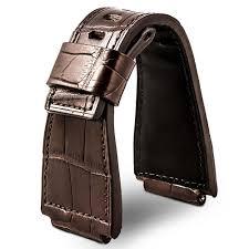 bracelet montre images Bell ross leather watch band dark brown alligator crocodile jpg