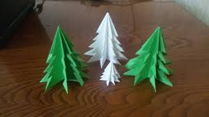 christmas tree from paper without glue youtube
