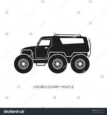 jeep off road silhouette silhouette crosscountry vehicle on white background stock vector