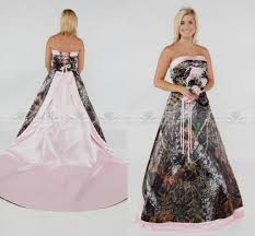 pink camo wedding gowns camo and pink wedding dresses wedding ideas