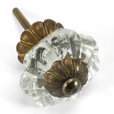 clear crystal octagon glass cabinet knobs 6 drawer pulls u0026