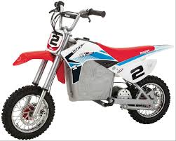 dirt bike motocross razor red white and blue sx500 mcgrath electric motocross dirt bike
