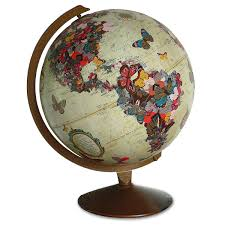 Butterfly Home Decor Butterfly Globe Sculpture Geography World Map Wendy Gold