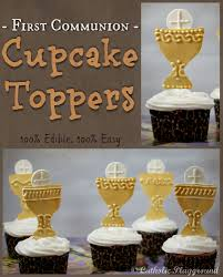 communion cake toppers communion cupcake toppers catholic playground