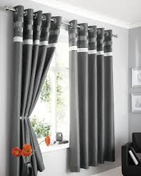 Grey Curtains 90 X 90 Charcoal Grey Faux Silk Lined Curtains With Eyelet Ring Top 90 X