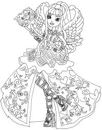 ingenious design ideas ever after high coloring book free