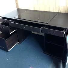 bureau ikea noir bureau noir ikea bureau dangle ikea noir et blanc civilware co