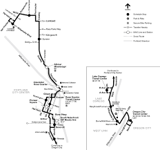 Portland Light Rail Map by 35 Macadam Greeley