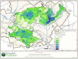 Lebanon Hills Map Schuylkill Highlands Region Map Library A World Of Nature In Our