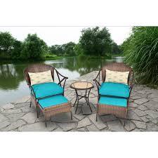 Walmart Outdoor Furniture Sets by Mainstays 5 Piece Skylar Glen Outdoor Leisure Set Blue Seats 2