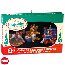 nifty fifties keepsake ornaments box of 3 mini glass ornaments
