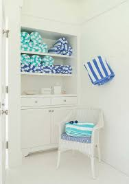Bathroom Wicker Furniture Turquoise Blue Bathroom Accents With White Wicker Chair Cottage