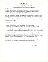 lovely administrative assistant cover letter example personal leave