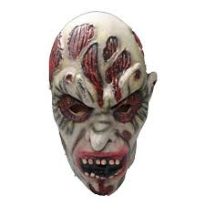 Realistic Halloween Costumes Bloody Bane Full Face Horror Halloween Costume Masks Scary Ghoul