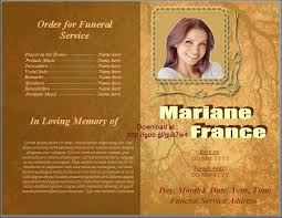 memorial service template word 31 funeral program templates free