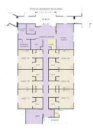Residential Floor Plan by Center Typical Residential Wing Floor Plan