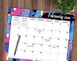 desk pad calendar etsy