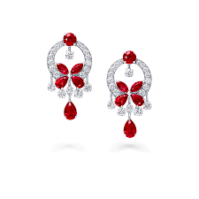 butterfly small earrings ruby and graff