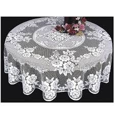 heritage lace 72 inch tablecloth white